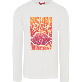 The North Face Graphic Pitkähihainen T-paita Miehet, tnf white/flame orange